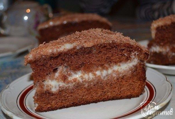 Торт сметанный с шоколадом рецепт