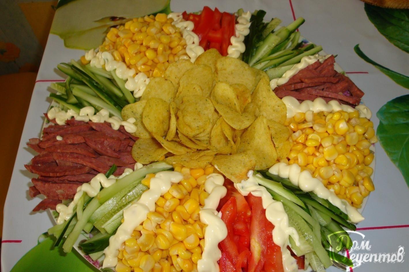 Рецепт салата новогодние шишки с окороком