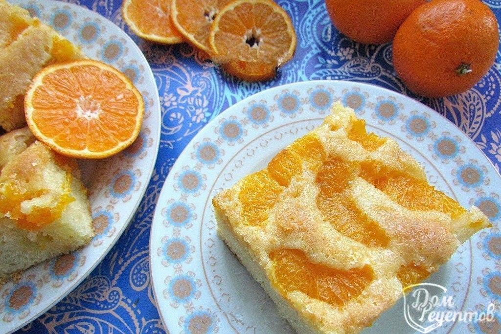 Рецепты пирогов с яблоками и мандаринами