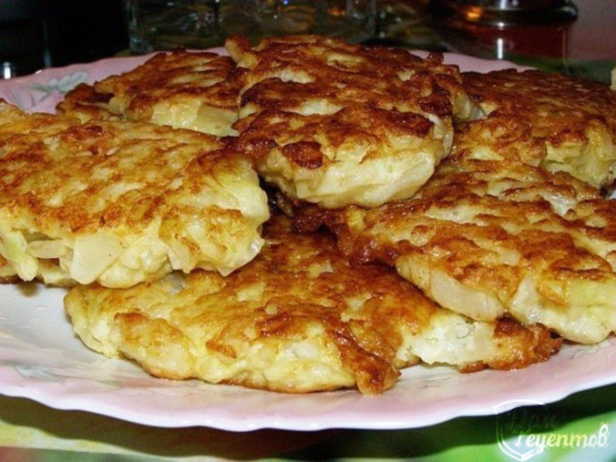 Капустные оладушки, рецепт с фото пошагово.