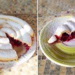 Летний пирог улитка с вишней