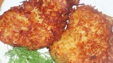 Куриная отбивная в картофельной панировке