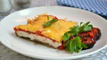 Куриное филе с баклажанами и помидорами