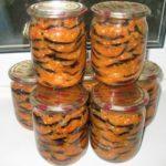 Консервация из жареных баклажанов в чесночном маринаде